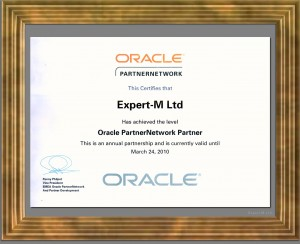 Oracle Partner Network Level 1-2