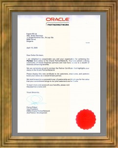 Oracle Partner Network Level 2-2
